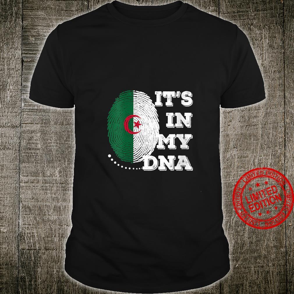 Womens IT'S IN MY DNA Algeria Flag Shirt