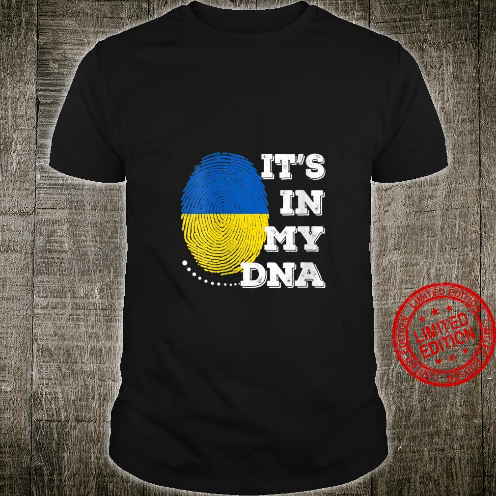 Womens IT'S IN MY DNA Ukraine Flag Shirt